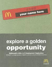 mcdonalds job description resume free printable mcdonald u0027s job application form