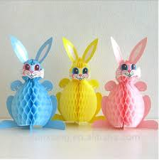 Easter Decorations Paper by Source Lovely Rabbit Paper Honeycomb For Easter Decoration On M