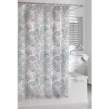 Grey Bathroom Curtains Shop For Garden Paisley Blue Grey Shower Curtain Free Shipping On