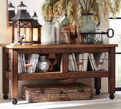 Decorating A Sofa Table Console Table Pottery Barn Furniture Inspiration Build
