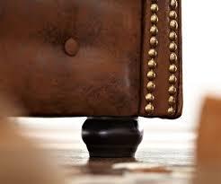 Esszimmerst Le Leder Optik Sofa Chesterfield 160x92 Cm Braun Antik Optik 2 Sitzer Möbel Sofas