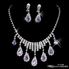 big diamond earrings big discount 2016 new necklace and earring set silver plated
