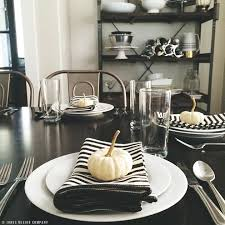 Dining Room Table Setting Dishes Black And White Dishes Dining Room Place Setting For Fall Design