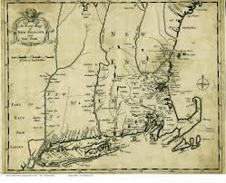 Map Of New England by 1702 Morden