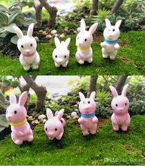 2017 bunny rabbit garden miniatures jardins bonsai ornaments