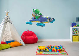 yoshi mario kart 8 wall decal shop fathead for mario decor yoshi mario kart 8 fathead wall decal
