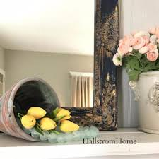 shabby chic mirror navy blue with gold u2013 hallstrom home