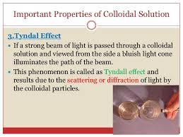 the scattering of light by colloids is called solutions suspension and colloidal system