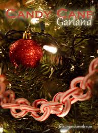 candy cane garland this is a beautiful and edible christmas