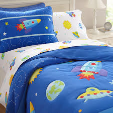 Electric Blue Duvet Cover Galaxy Outer Space Blue Bedding Twin Comforter Set Cotton