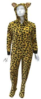leopard hooded onesie footie pajama just for the of it these