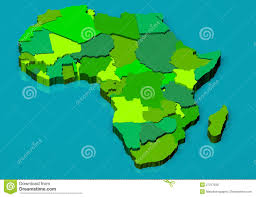 Map Of Africa Political by Political Map Of Africa 3d Royalty Free Stock Images Image 27217939