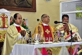 bishop celebrates thanksgiving mass at st anthony s ashram