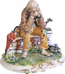capodimonte philosopher tr italian porcelain figurine