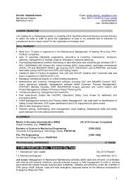 Maintence Resume Resume For Plant Maintenance Management Position