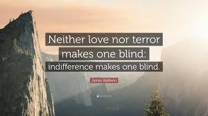 Blind Terror James Baldwin Quote U201cneither Love Nor Terror Makes One Blind