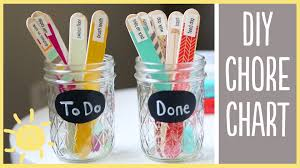 diy chore charts cute and easy youtube