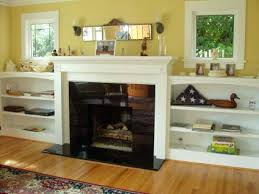 Built In Tv Bookcase Fireplaces With Bookshelves Color Coordinated Bookshelves
