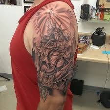 100 angel half sleeve tattoo amazing half sleeve warrior