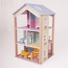 Doll House Furniture Ideas Bigjigs Toys Manhattan Townhome Dollhouse Hayneedle