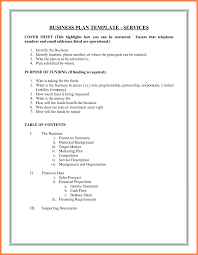 sample business plan cover page 14 sample business paln cover page agenda example plan template