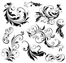 simple floral ornament set vector