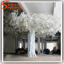 white decorative ficus tree artificial white wedding trees plastic