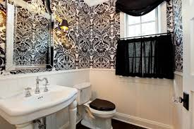 bathroom wallpaper ideas 71 cool black and white bathroom design ideas digsdigs
