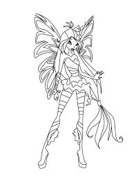 flora winx coloring pages download and print flora winx coloring