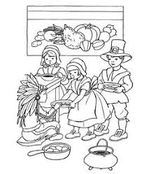 history thanksgiving coloring pages pilgrims print