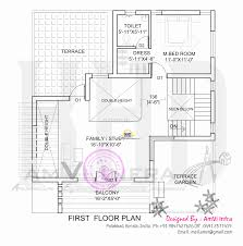 flat roof home with floor plan kerala home design and home roof