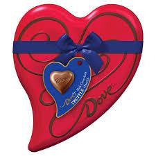 amazon com dove valentine u0027s truffle hearts milk chocolate 6 5