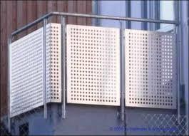 balkon lochblech geländer mit lochblech