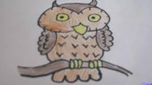 how to draw a cartoon owl step by step cartoon animals animals