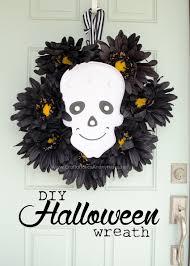 Halloween Geo Mesh Wreath Intriguing Easy Spooky Tutu Halloween Wreath Tutorial As Wells As