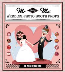 Wedding Photo Booth Props Ohlily Wedding Photo Booth Props 52 Pieces Photobooth Props For