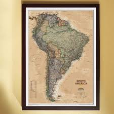Geographical Map Of South America by South America Executive Wall Map National Geographic Store