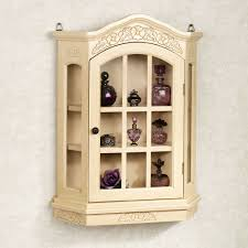 Shabby Chic Wall Cabinets by Curio Cabinet Appealing Shabby Chic White French Country Hanging
