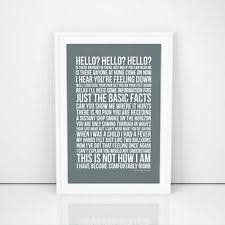 Pink Floyd Lyrics Comfortably Numb Pink Floyd Memorabilia Posters Ebay
