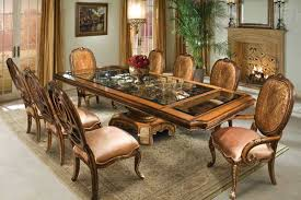 glass wood dining table exotic wood and bronze dining table with