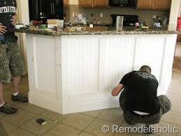 wainscoting kitchen island remodelaholic fabulous kitchen island makeover part one