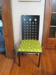 dining room brown and white stripped patterned linen chair seat