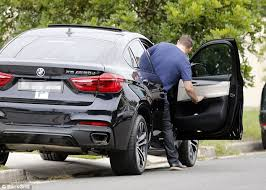 bmw car maker manu feildel spotted driving a luxury bmw with p plate sign in