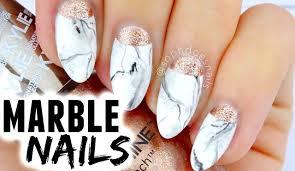 marble u0026 rose gold nail tutorial sophdoesnails youtube