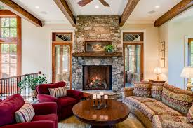 rustic western living room interior decor style custom home design