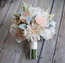 wedding bouquet wedding bouquet blush pink and ivory garden dahlia and