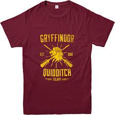 harry potter t shirt quidditch team gryffindor t shirt inspired