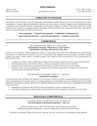 Business Administration Resume Examples by Free Administration Manager Resume Example