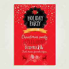 christmas invitations templates vector christmas party invitation with toys holiday background