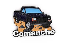 jeep cherokee christmas ornament jeep comanche pickup truck soft enamel lapel pin dark blue